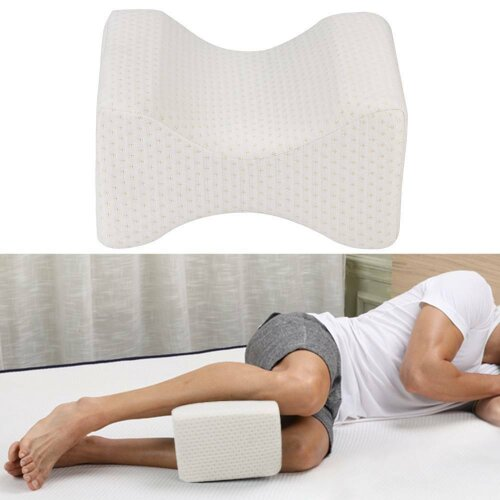 Memory Foam Orthopedic Knee Pillow for Sciatica Relief Back Pain Leg Pain Pregnancy Hip and Joint Pain