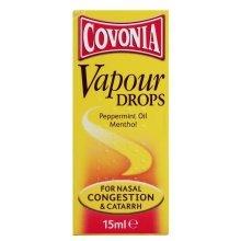 Covonia Vapour Drops Peppermint Oil & Menthol 15ml