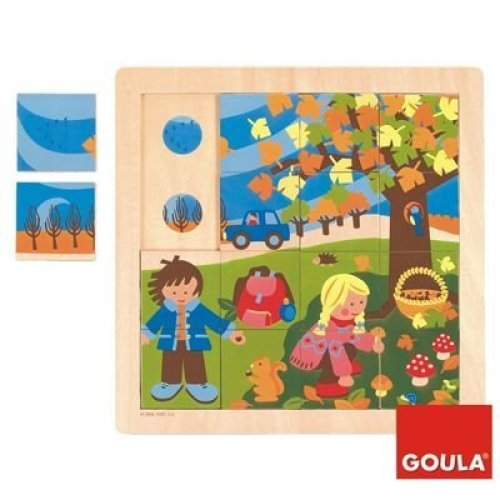 Goula Autumn Wooden Puzzle