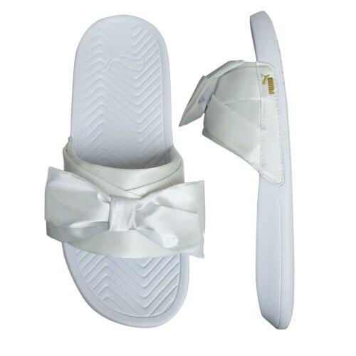 (4 (Adults')) Puma Popcat Bow Slide Womens Slip On Flip Flop Sliders Sandals 368094 05
