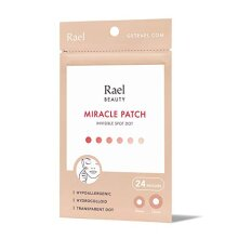 Rael Acne Pimple Healing Patch - Absorbing Cover, Invisible, Blemish Spot, Hydrocolloid, Skin Treatment, Facial Stickers, Two Sizes, Blends in with sk