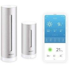 Netatmo Weather Station Indoor Outdoor with Wireless Outdoor Sensor - Compatible with Amazon Alexa & Apple HomeKit, NWS01-EU