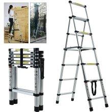 Aluminium Folding Step Ladder 3 4 5 6 Extension Telescopic Ladder