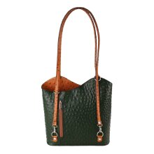 28x30x9 cm -Leather Tote / Backpack Bag - Made in Italy