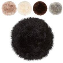 Long-Haired Round Luxury Sheepskin Seat Cushion