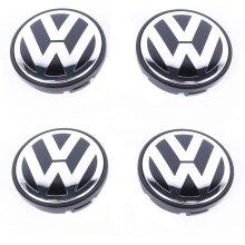 VW Car Wheel Centre Hub Caps 56mm 4 PCS For Jetta 1999-2009 Polo 2002-2015