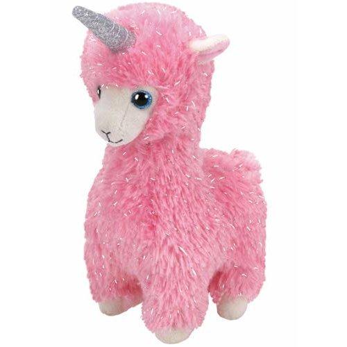 TY Beanie Boo - Lana Pink Llama with Horn