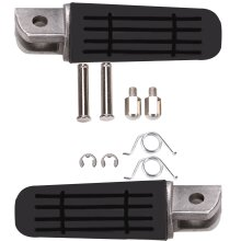 Pair For Motorcycle Motorbike Pedals Front Footrest Foot Pegs Side