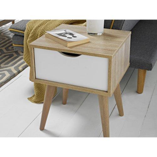 Scandinavian Lamp Side Table Retro Bedside Cabinet Sofa End Storage