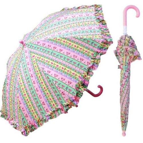 RainStoppers W104CHFLP 32 in. Childrens Flower Paper Print Umbrella, 6 Piece