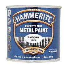 Hammerite Smooth White Paint - 250ml