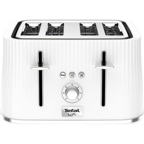 TEFAL Loft TT60140 4-Slice Toaster - Pure White, White