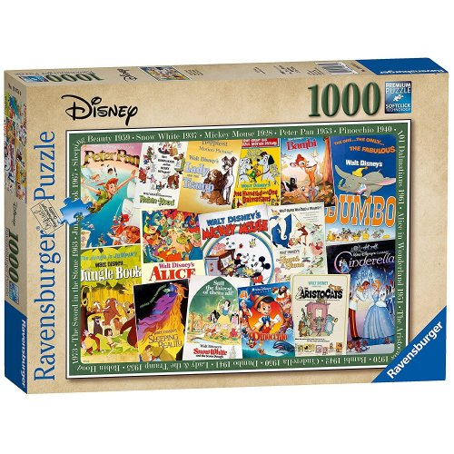 Ravensburger 1000pc Disney Vintage Movie Posters Jigsaw Puzzle