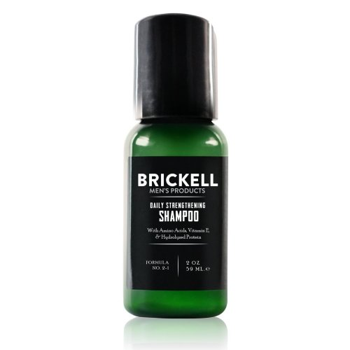 Brickell Men's Daily Strengthening Shampoo for Men - Natural - Featuring Mint & Tea Tree Oil - 2 Ounce