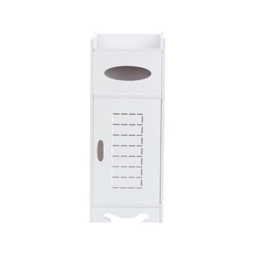 White Free-Standing Bathroom Storage Cabinet