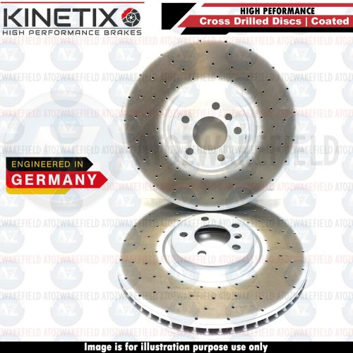 FOR BMW X6 M50d E71 E72 FRONT DRILLED PERFORMANCE BRAKE DISCS PAIR 395mm