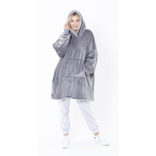 Eskimo Oversized Sherpa Hoodie Blanket - One Size