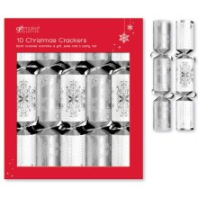 Crackers - Silver & White Snowflake