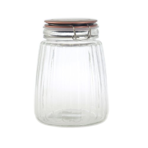 1500ML Copper Clip Top Food Cereal Rice Preserving Glass Jar Storage Canister