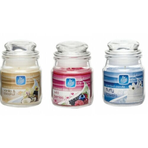 3 Assorted Scented Candles- Pan Aroma