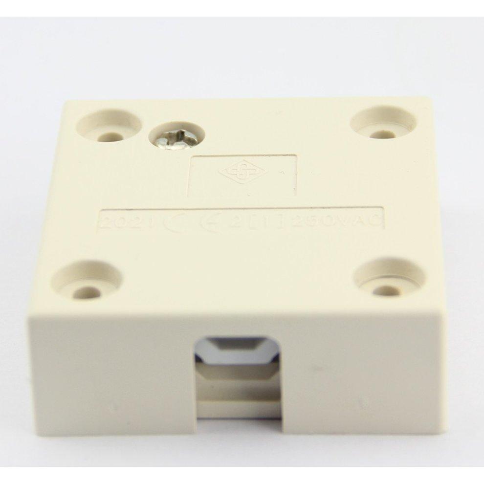 Door Switch 2 Pack White Surface Push to Break Cupboard Door Light Switch 2A