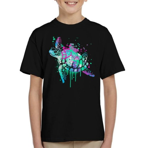 Sea Turtle Paint Splat Kid's T-Shirt