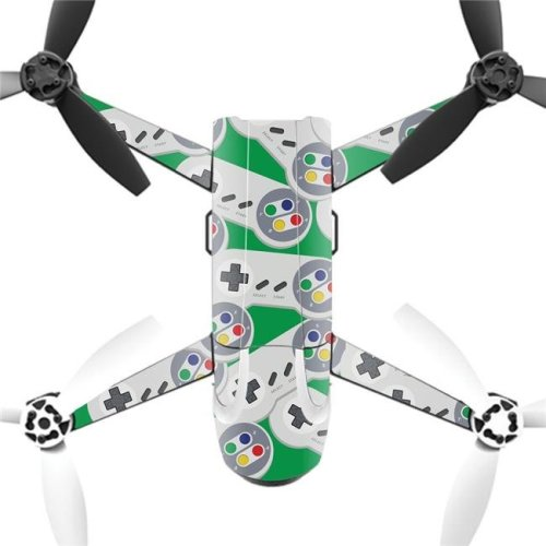 MightySkins PABEBOP2-2Retro Controllers 1 Skin Decal Wrap for Parrot Bebop 2 Quadcopter Drone - Retro Controllers 1