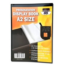 A2 Black Presentation Display Book by Ark (20 Pockets (Single))