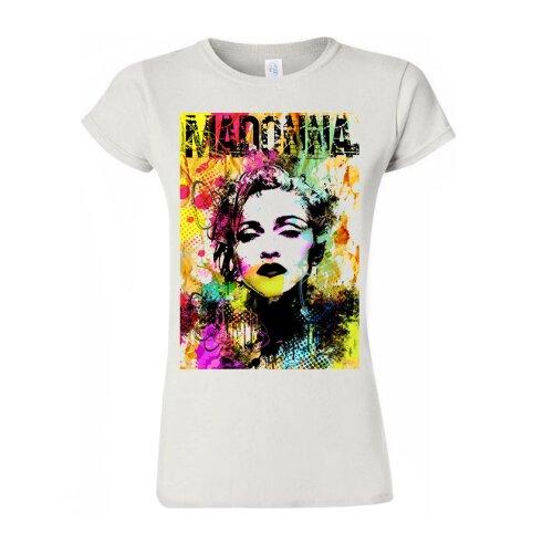 Madonna T Shirt Madonna Color Pop Singer Tee Party T-Shirt Trendy Women T Shirt