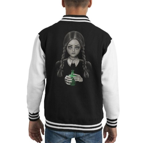Death Bores Me Wednesday Addams Family Kid's Varsity Jacket