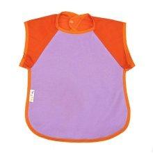 Summer Cotton Waterproof Short Sleeved Bib Baby Painting Smock ORANGE, 6-8 Years
