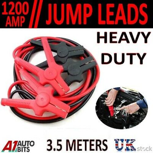 1200 Amp 3.5 Meter M Long Heavy Duty Jump Leads Booster Cables Car Van Battery