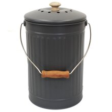 Charcoal/Slate/Grey 7L Compost Pail - Food Waste Caddy/Bin