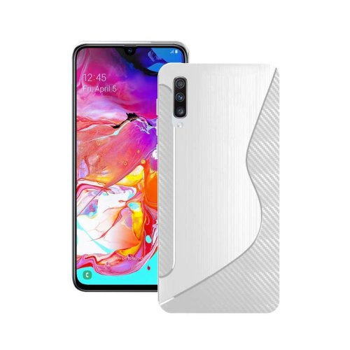 Case For Samsung Galaxy A70 2019 Clear S Line Silicone Gel Cover