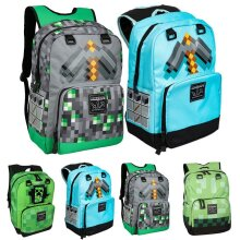 Minecraft School Bags Laptop Bag Casual Backpack