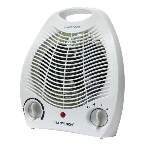 Lloytron Upright Fan Heater, 2 Kilowatt, White (Model No. Lloytron F2001WH)