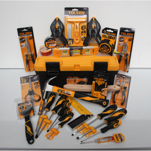 """Tool-Mate 35pc Hand Tool Kit with 17"""" Toolbox"""