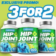 CANIMED Joint Supplement For Dogs - 3 for 2 OFFER (900 TABLETS)