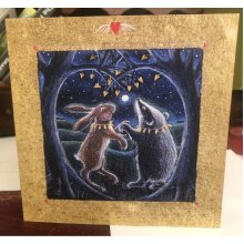 The Secret in Valentines Wood Greetings card by Hannah Willow