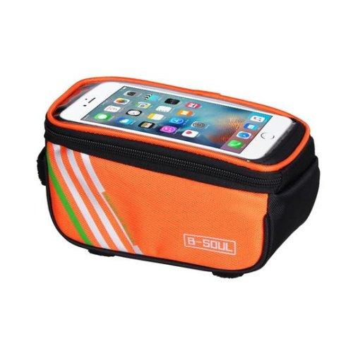 (ORANGE) Bicycle Bags Mobile Phone Bag Cycling Bag