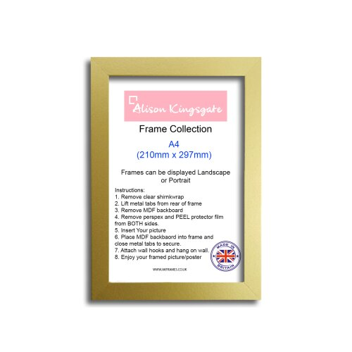 (NDS A4 GOLD) A1 A2 A3 A4 Gold Picture Frame Silver Poster Frame