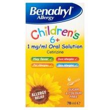 Benadryl Allergy Childrens Oral Solution 70ml