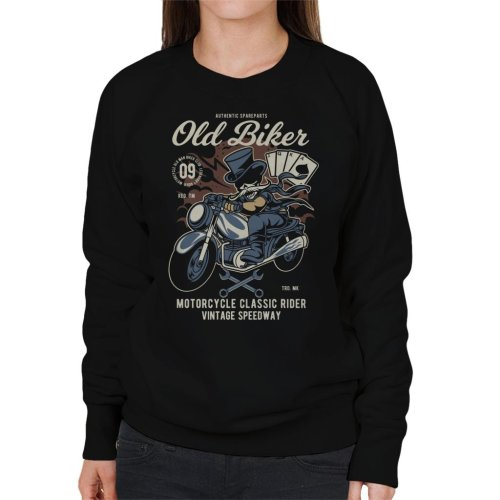 (XX-Large) Old Biker Tophat Women's Sweatshirt