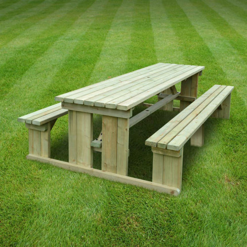Tinwell picnic bench - 8ft