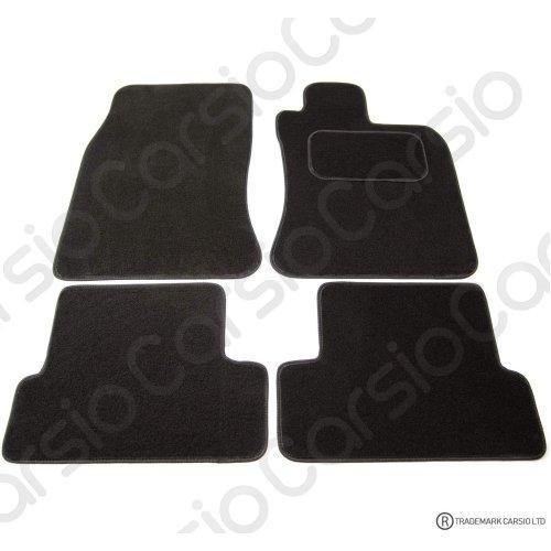 Carsio Tailored Black Carpet Car Mats for BMW Mini Cooper 2001-2006 - 4 Piece Set