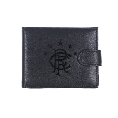 Rangers FC Official Leather Wallet Embossed Crest Gift Boxed