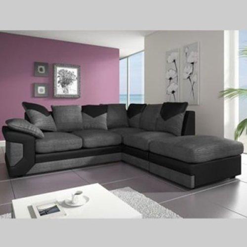 Dino Corner Sofa | Faux Leather & Fabric Sofa