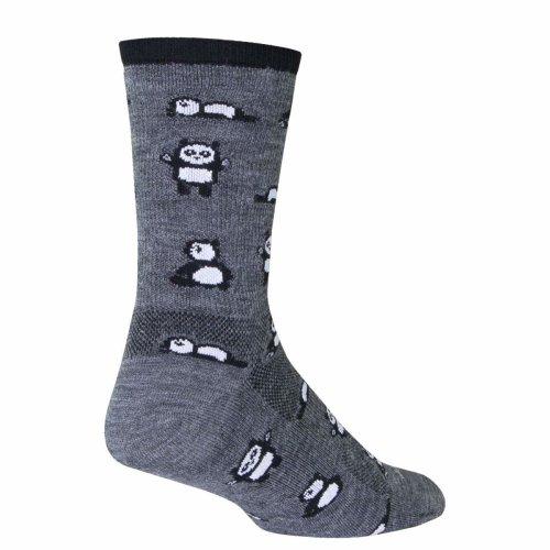 "Socks - Sockguy - 6"" Wool Crew Pandamonium  L/XL Cycling/Running"