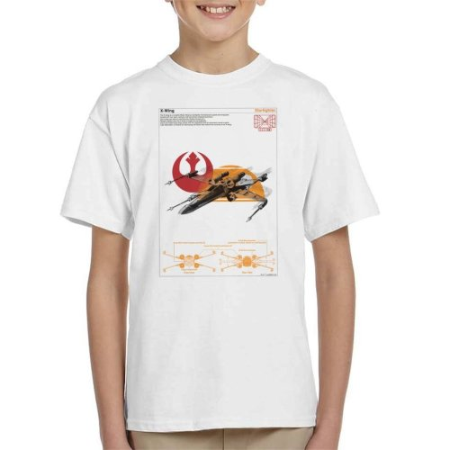 Star Wars X Wing Starfighter Orthographic Kid's T-Shirt