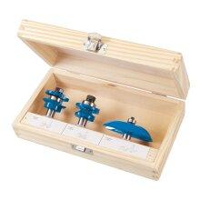 """Silverline 1/2"""" TCT Panel Door Bit Routing Set Hand DIY Tool Pack Of 3 Piece ( UK )"""